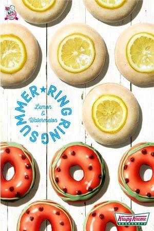 初夏にぴったりの「スイカ」&「レモン グレーズド」が、クリスピー・クリーム・ドーナツに仲間入り♪