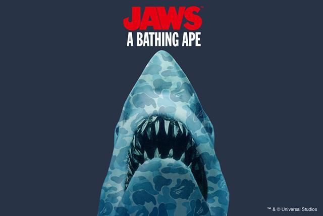 ア ベイシング エイプ® (A BATHING APE® ) と映画「ジョーズ」のコラボレーションアイテムが発売!
