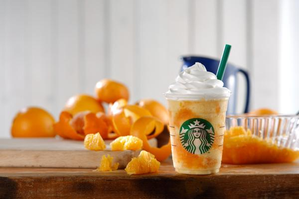 スタバの新作フラペチーノ®はオレンジ! 「クラッシュ オレンジ フラペチーノ®」が新登場