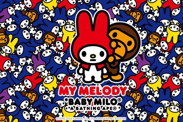 「A BATHING APE® × MY MELODY」が発売! マイメロがベイビーマイロ®とコラボ