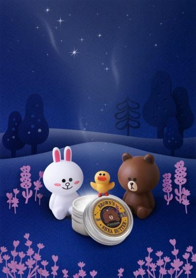 ロクシタンで人気のシアバターがLINE FRIENDSとコラボ! 第2弾はプロヴァンスの澄んだ夜空から舞降る流れ星☆