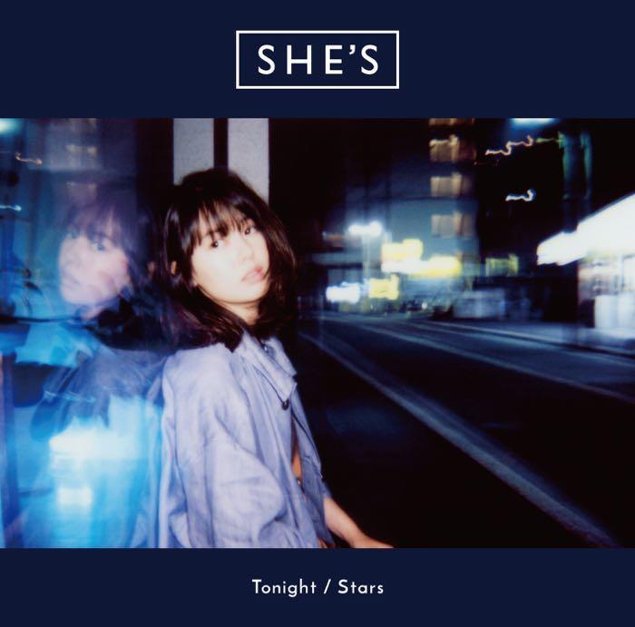 青柳文子がジャケットとMVに登場! SHE'S「Tonight / Stars」の最新MVが2本公開
