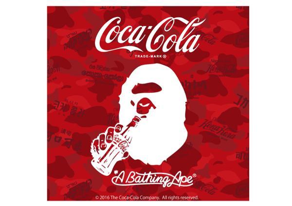 A BATHING APE® x COCA-COLAコラボ第2弾! 各国のコカ・コーラロゴが融合したカモ柄が登場