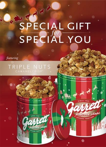 ギャレット ポップコーンから、クリスマスにぴったりな「トリプルナッツ キャラメルクリスプ」が登場