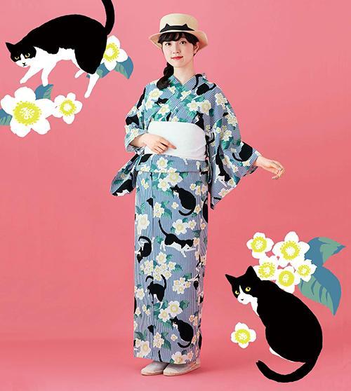 猫好きが集まる部活動「フェリシモ猫部」が ウェブにてオリジナル浴衣を販売中!