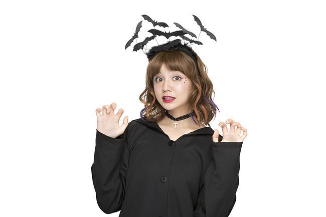 部分カラーを1日だけ楽しめるパルティのヘアカラーチョークにハロウィンカラーが限定登場♪ 村田倫子ちゃんのパッケージが目印!