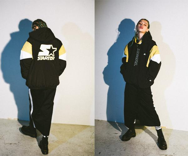 X-girl×STARTER BLACK LABELコラボレーション第二弾! 90年代からインスパイアされたジャケット、Tシャツが発売