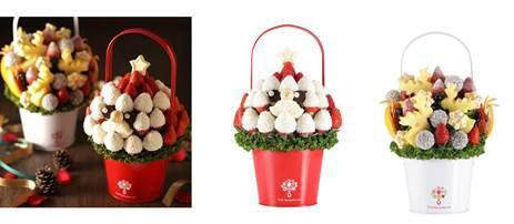 ワンランク上の贈り物としてメディアで話題! 新鮮フルーツケーキと花束をひとつにした 「フルーツブーケ®」にクリスマスバージョン登場