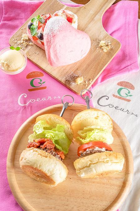 Instagramとコラボしたフォトコンテストも開催! SNSで話題の「ミニハンバーガー専門店 Coeur」から ハート型バーガーをセットにした新メニュー発売