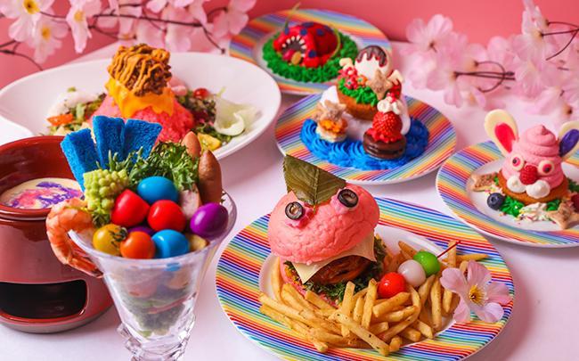 お菓子メーカー「ロッテ」とのコラボスイーツも♪ 原宿の新名所「KAWAII MONSTER CAFE」が カラフルすぎる(?)春のランチフェア開催!