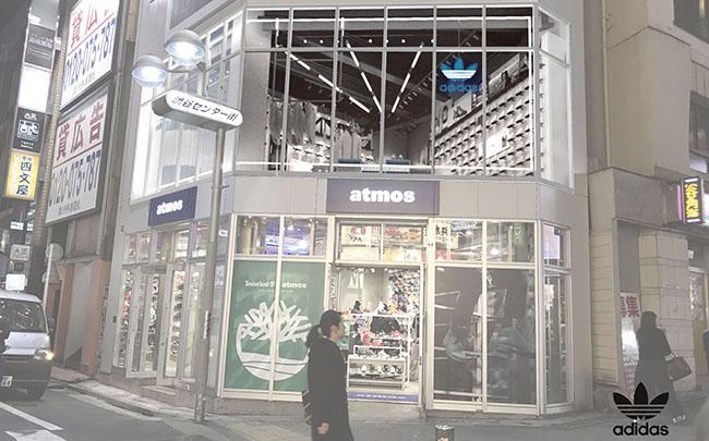 adidas×渋谷のファッショントレンドをミクスチャー! atmos渋谷店の2Fにアディダスの専用フロアがオープン FACE氏によるウォールアートにも注目