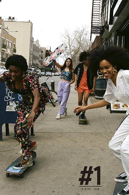 X-girlからスケートボードウエアラインが登場! NYのガールズスケートクルーThe Skate Kitchenをヴィジュアルに起用